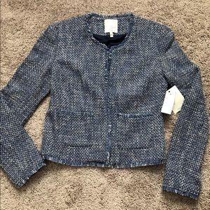 Joie blue tweed jacket size M